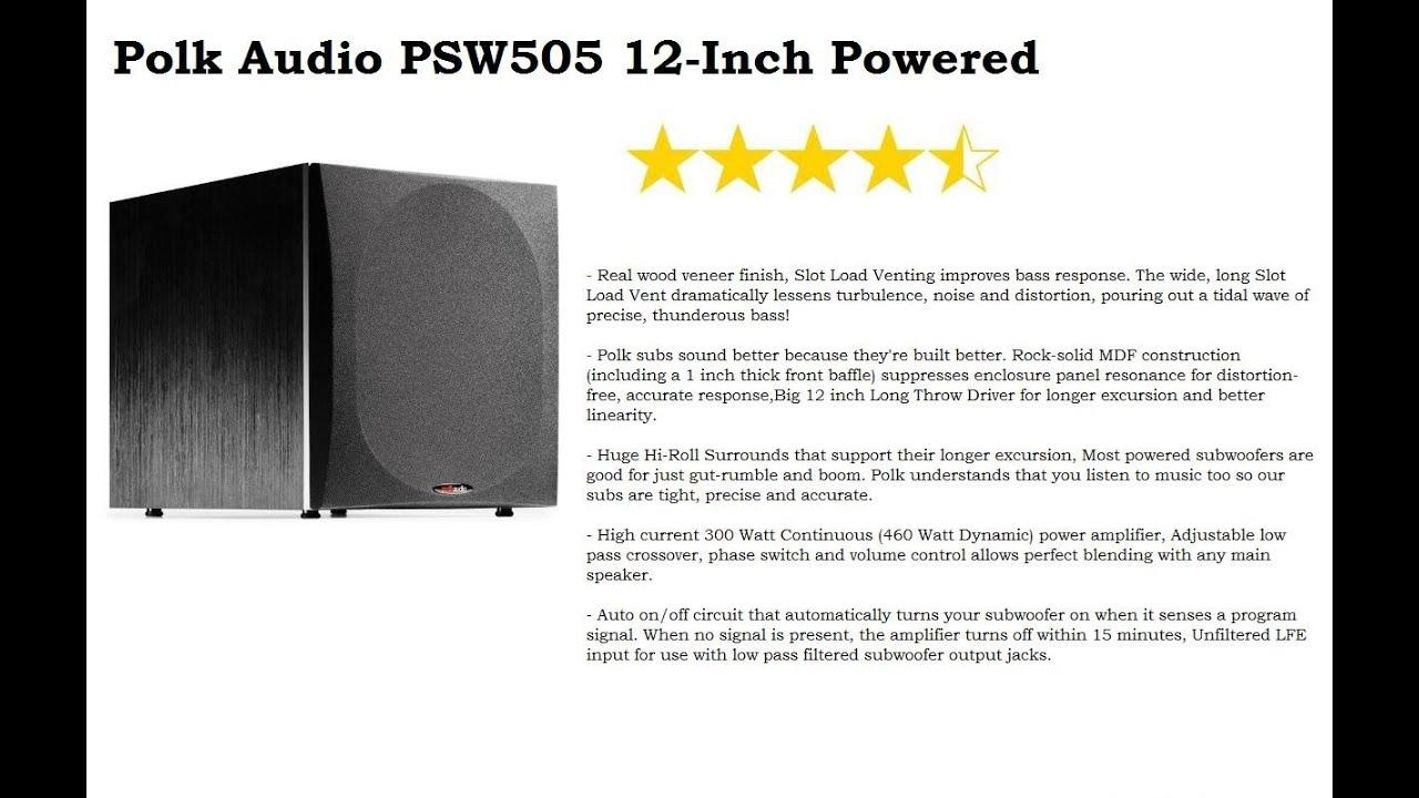 Polkaudio PSW110 subwoofer & Tsi300 Towers by SARANGA