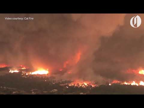Aerial Footage Of Massive Fire Tornado That Killed California Firefighter