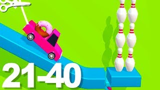 Rope Bowling - Gameplay Walkthrough 21-40 Levels (Android)