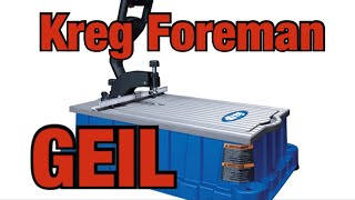 Kreg Foreman pocket hole machine | Deutsch | Trends | Anleitung | Undercover jig