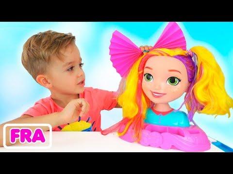 Collection d'histoires - Vlad et Nikita jouent au salon de beauté