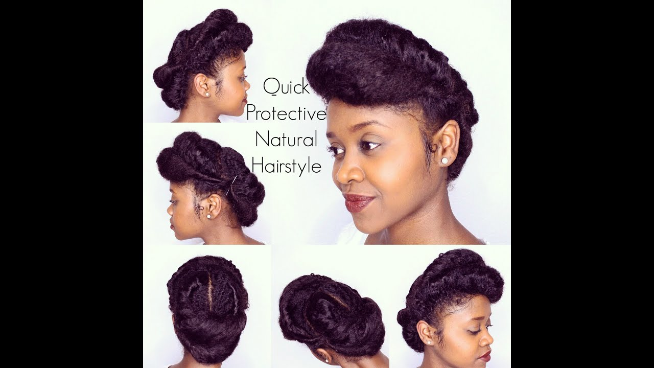 quick protective natural hairstyle | flawlesshairstyle - youtube