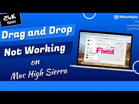 Drag and drop not working on Mac High Sierra? Here's the fix