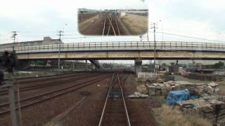 【前面展望】 水島臨海鉄道 水島本線 倉敷(タ)→水島 (7-Nov-2010)