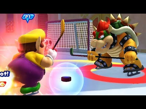Mario and Sonic at the Sochi 2014 Olympic Winter Games - All Characters Street Hockey Gameplay