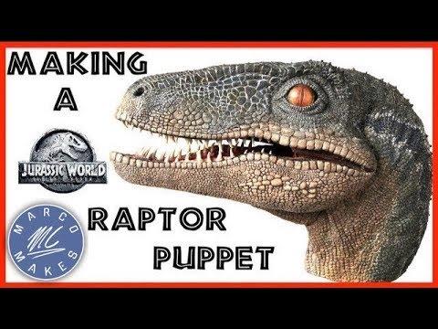 Making a Velociraptor Blue Head Puppet - JURASSIC WORLD FALLEN KINGDOM - How to make an animatronic
