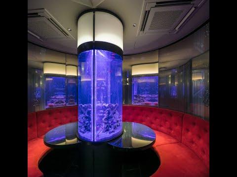 The Parallel Blue ~アクアリウムダイニング JeMare (東京・新宿三丁目)Design: KTXアーキラボ