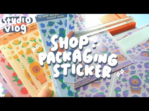 shop : packaging sticker ✂️ | indonesia (studio vlog) @mypage.co