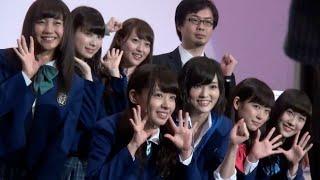 人気アイドルグループ・NMB48の山本彩、渡辺美優紀らが25日、都内で行わ...