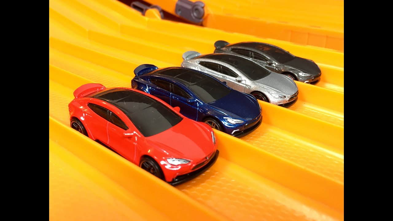 Tesla Model S (All Colors) RACE & REVIEW - Hot Wheels