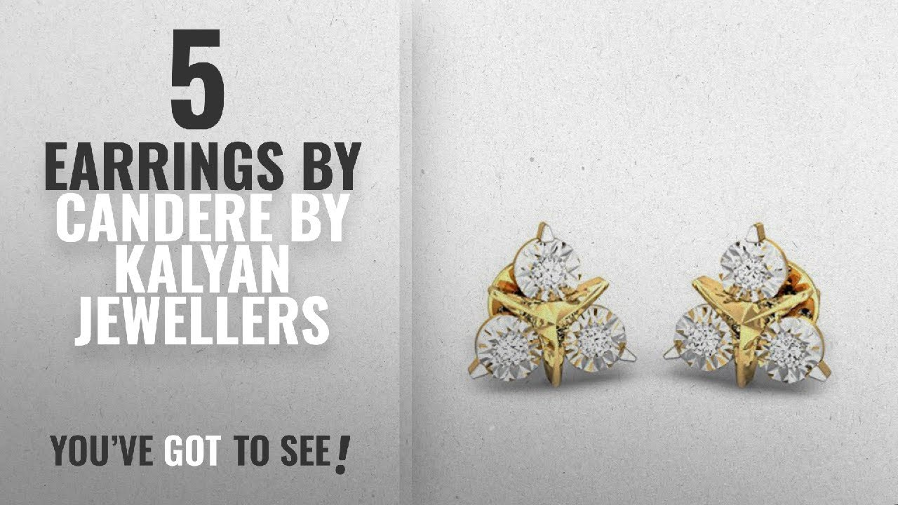 7595a1e53 Top 10 Candere By Kalyan Jewellers Earrings [2018]: Candere By Kalyan  Jewellers 18KT Yellow Gold and