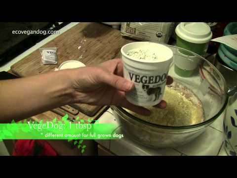 How to Make Vegan Dog Food for a Puppy Using VegeDog Supplement