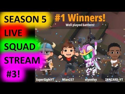 Battlelands Royale Season 5 Squads LIVE Gameplay #3!