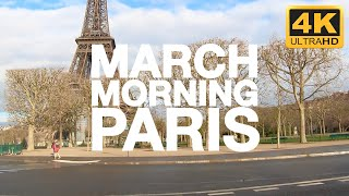 4K - Spring Drive in Paris  | Eiffel Tower