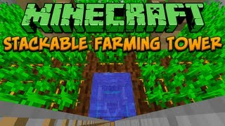 Minecraft: Stackable Farming Tower Tutorial