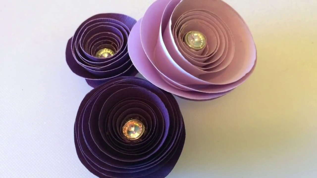 Spiral Paper Flowers Youtube