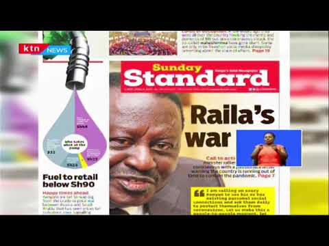 Section of Kenyan Youth angered by call to help fight COVID-19 by Mutahi Kagwe and Raila Odinga