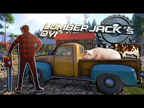 VIVENDO a PACATA VIDA DE UM LENHADOR! Lumberjack's Dynasty  