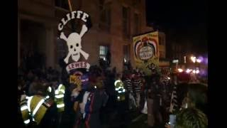 Lewes UK Bonfire Night Guy Fawkes Fireworks and Marching Bands.mp4