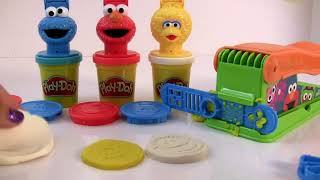 Sesame Street toys Playdoh toys review Learn colors shapes and numbers