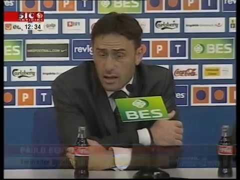 Treinador do Sporting, Paulo Bento, arrasa Olegário Benquerença