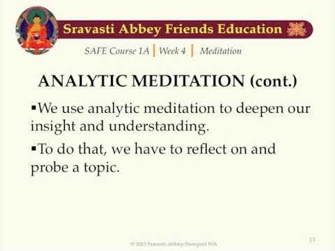 SAFE 1A Week 4 Meditation