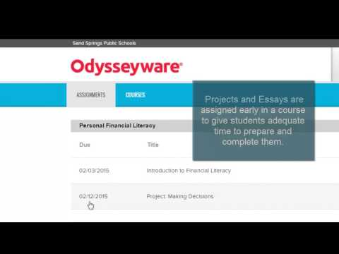 Odysseyware Assignments And Courses Menus YouTube