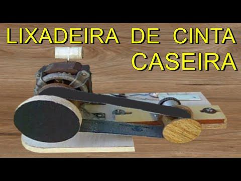 COMO FAZER LIXADEIRA DE CINTA CASEIRA PASSO A PASSO, FEITA COM SUCATA, RECICLAGEM/RECYCLING/SANDER