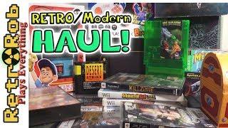 BIG Retro and Modern Haul! Atari Jaguar Repro Cart!  * NES * PS1 * SWITCH *SNES *GENESIS * MORE!