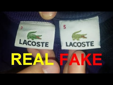 Original Vs. Good Replica Lacoste Sweater. How To Spot Fake Lacoste Sweatshirt
