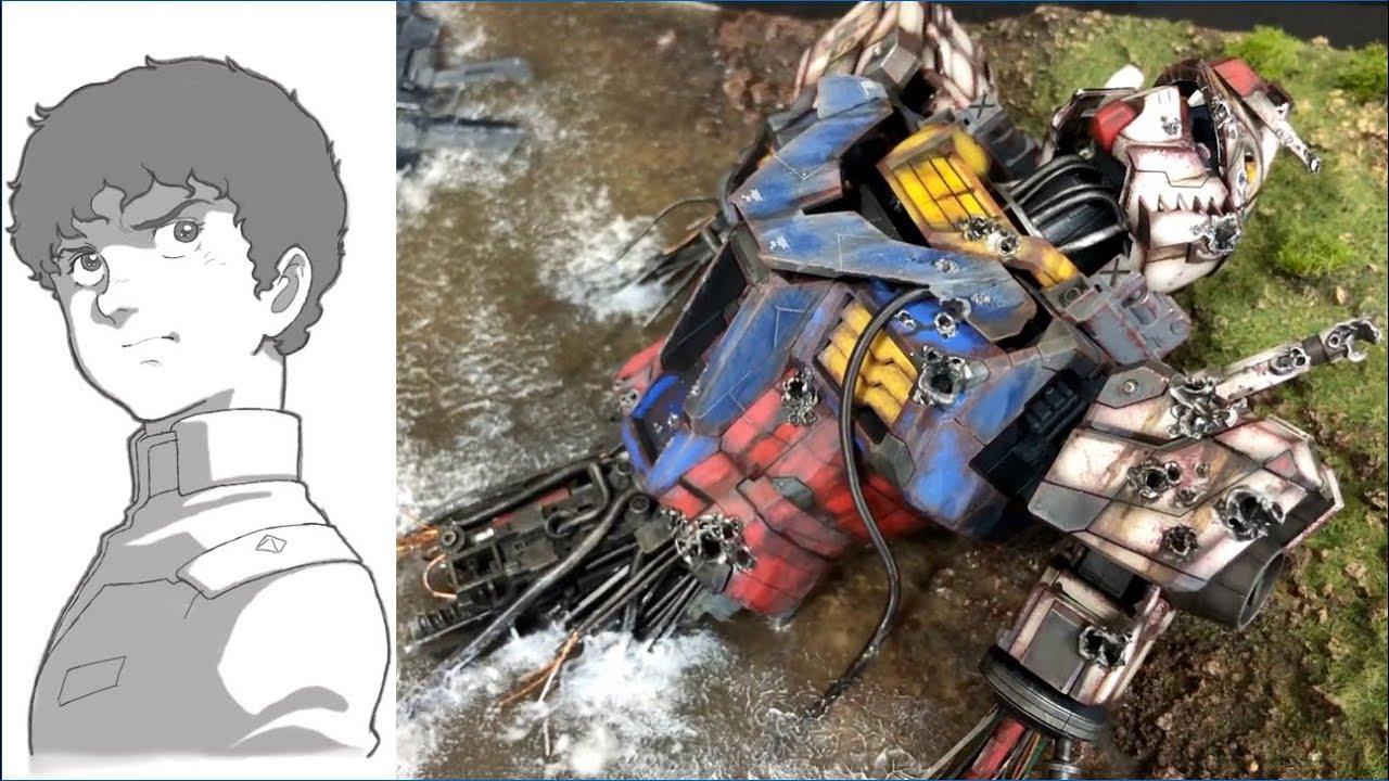 【悩み】エヴァ以外も作りたい…破壊は男のロマン!残骸レジンアート制作!【GUNPLA CUSTOM BUILD】1/48 RX-78F00 ガンダム [BUST MODEL]