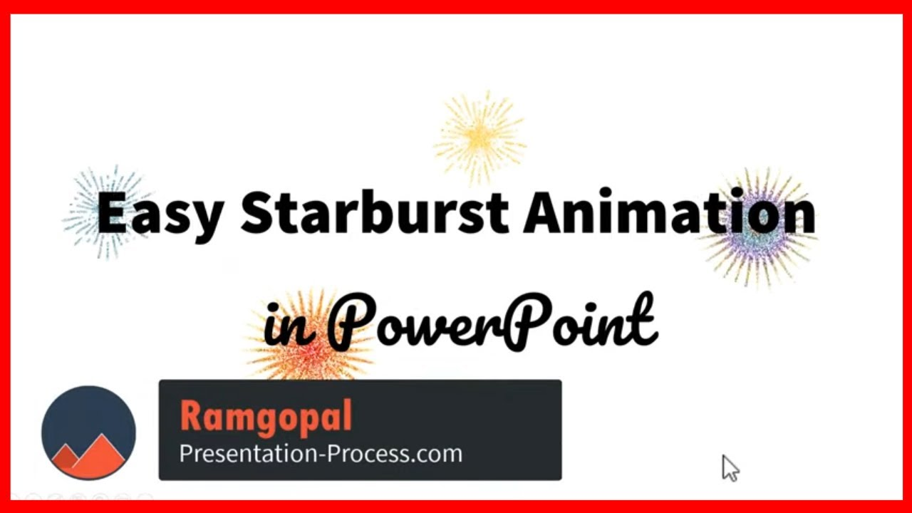 Easy Star burst animation in PowerPoint