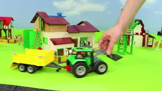 Fire Truck, Excavator, Train, Police Cars, Garbage Trucks & Tractor Construction Kids Toy Vehicles