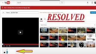 Youtube - Video is not ready - We encountered a problem - Error - EASY Fix.