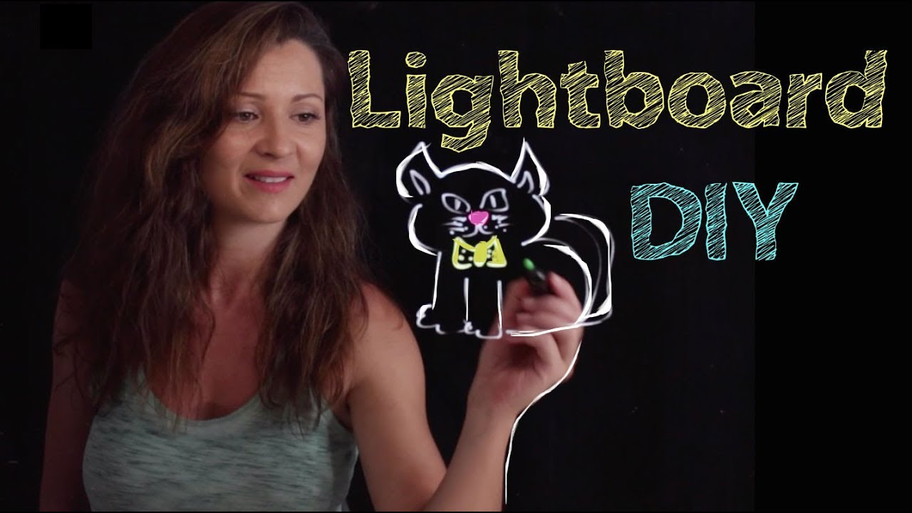 How to Build your Own LIGHTBOARD / Light board DIY Fast and Easy | Elisa  Valkyria