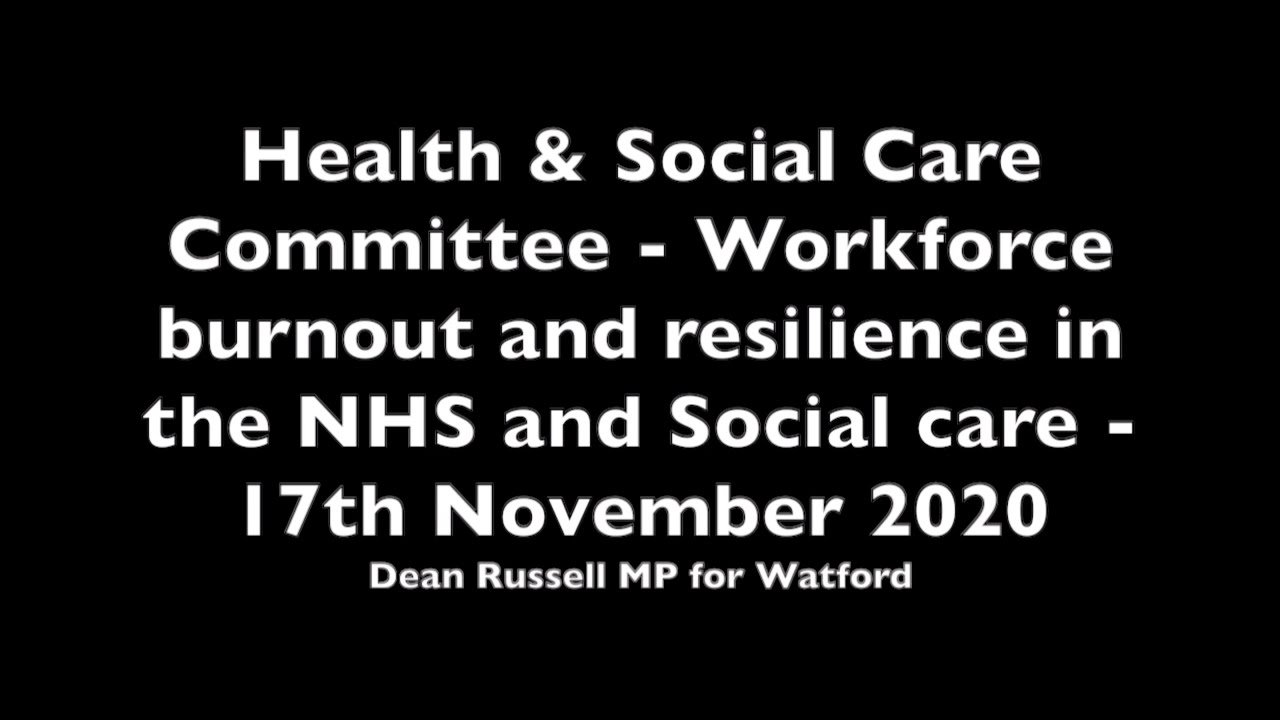 Health & Social Care Committee: Dean debates mental health of social care staff during the pandemic