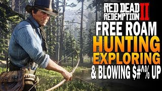 Free Roam! Hunting, Exploring & Blowing Stuff Up! Red Dead Redemption 2 Gameplay [4K RDR2]