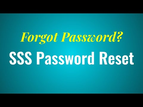 SSS Online Registration: SSS Password Reset