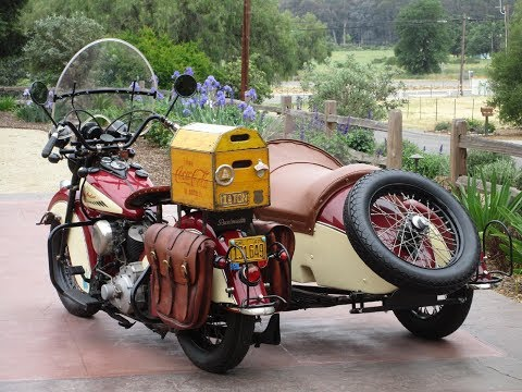 Repeat 1947 Indian Chief and Sidecar Start Up by Glenn Bator