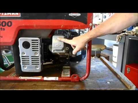 5600 Watt Generator Won't Start