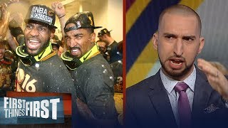 Nick Wright on J.R. Smith saying LeBron passed Jordan as GOAT 2 years ago | FIRST THINGS FIRST