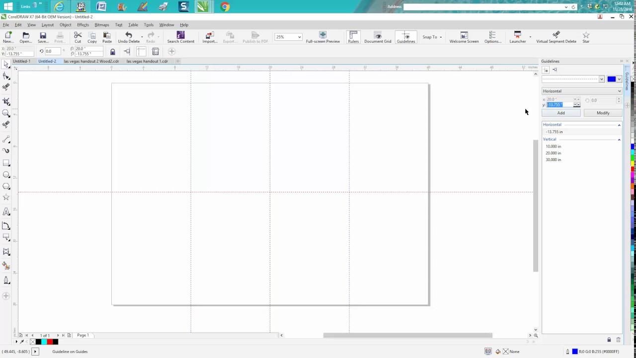 corel draw tips tricks guide lines add and modify them youtube rh youtube com Adobe Illustrator Adobe Illustrator