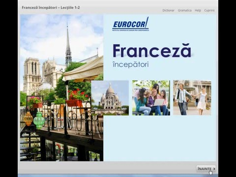 FRANCEZA VORBITA - Cursuri De Franceza - LECTIA 1 PARTEA 1 - Bonjour