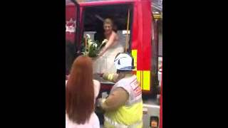Welwyn Hatfield Times: Firefighters save bride's wedding after car bursts into flames