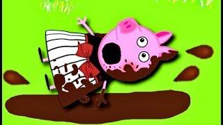 Мультики Свинка  Петта упала в лужу и испачкала новое платье Мультфильмы для детей на русском