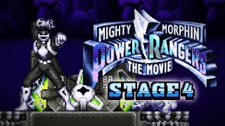 Mighty Morphin Power Rangers: The Movie (SNES) - Stage 4 Gameplay (Hard)