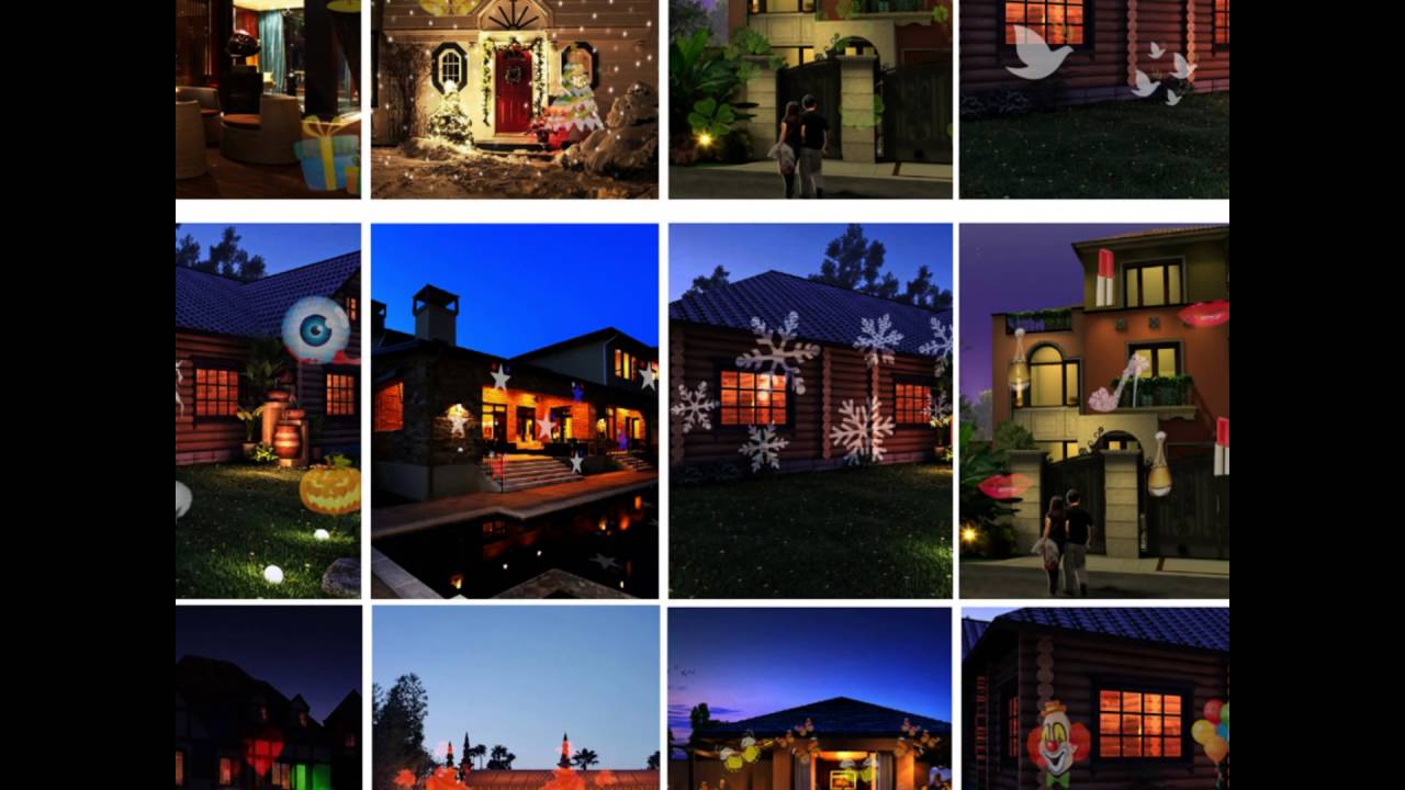 12 Lens Switchable Outdoor Indoor Light Projector Review Laser Christmas Lights