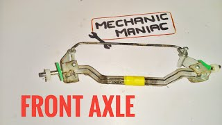 HOW TO MAKE RC TRUCK FRONT  AXLE  BRIDGE from pvc and pen parts