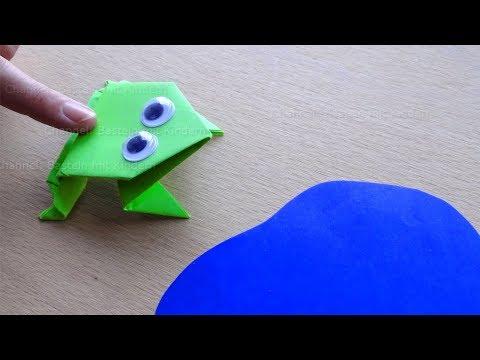 Origami Frosch Falten Mit Papier Basteln Mit Kindern