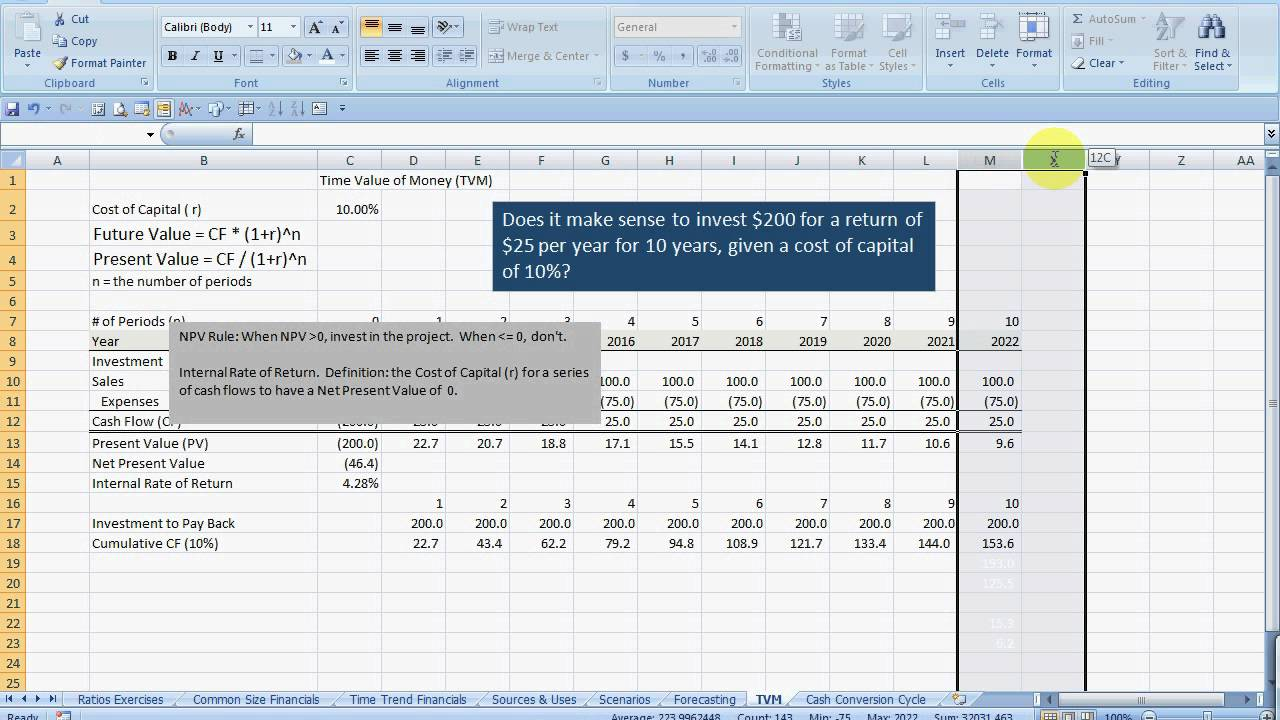 how to calculate internal rate of return youtube